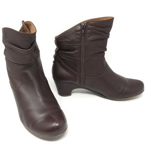 Eric Michael Genuine Leather Scrunch Ankle Boots